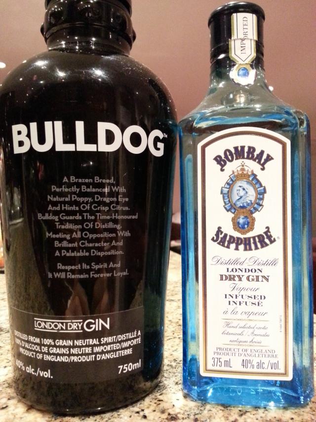 london dry gin round 2 – bulldog (champ) vs bombay sapphire