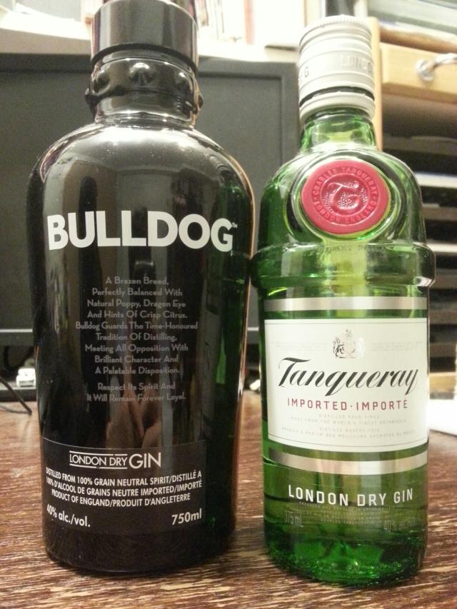 london dry gin round 3 – bulldog (champ) vs tanqueray (challenger